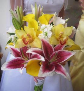 Elegant Orchids, Stargazers & Calla Lillies