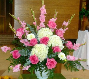 Altar Arrangement Pink