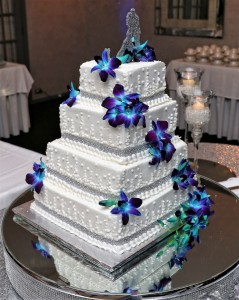 Cake Flowers Blue Orchids