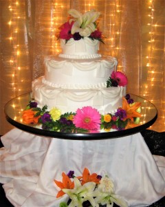 Cake Flowers Bright Colors
