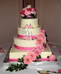 Cake Flowers Pink Gerber Daisies