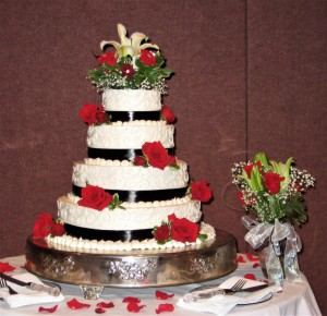 Cake Flowers Red