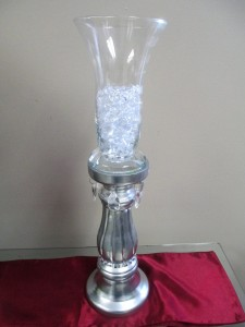 Custom Made Silver Candlestick Rentals