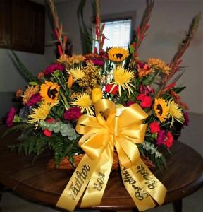 Masculine Funeral Basket