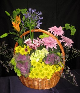 Unique Floral Basket