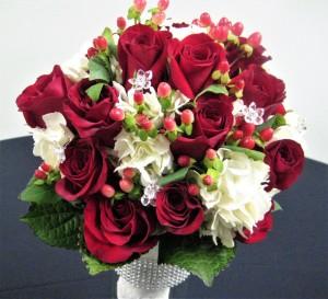 Roses, Hydrangea & Hypericum Berries