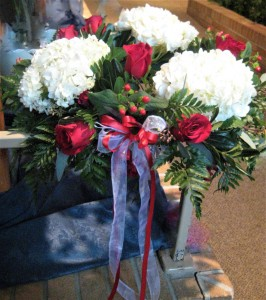 Altar Candle Rings Matching Table Top Arrangement