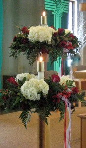 Altar Candle Flower Rings