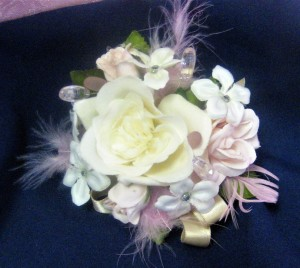 Feather Enhanced Wrist Corsage