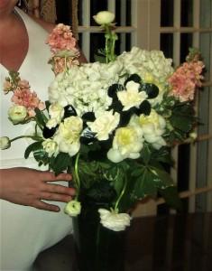 Large Vase Gardenia & Hydrangea