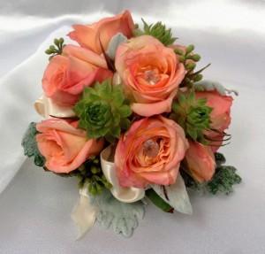 Miniature Succulents & Rose Wrist Corsage