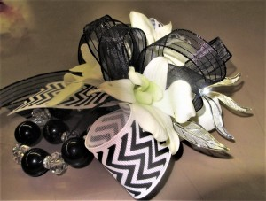 Orchids & Chevron Ribbon
