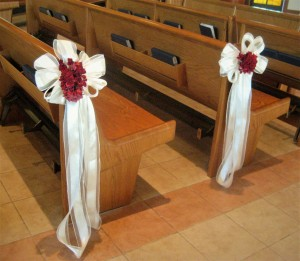 Pew Bow Decor Rental