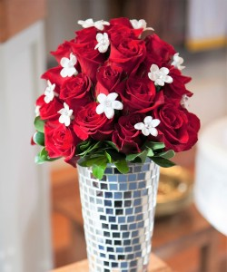Red Rose and Stephanotis