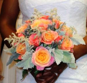 Romantic Roses, Dusty Miller & Silver Brunia