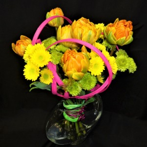 Trendy Bright Bouquet with Cane Wrap