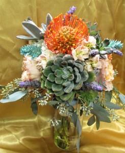 Unique Succulent & Potea Bouquet